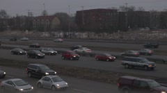 Rush Hour Traffic From Front Angle Stock Footage