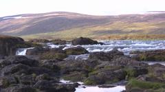 Iceland, Rushing Waters of Skjalfandafljot Stock Footage