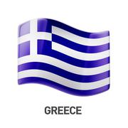 Stock Illustration of Greece Flag Icon