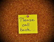 Notice board with sticky note pad - stock photo