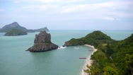 Stock Video Footage of Top View of Island Group in Thailand - Paradise Seascape