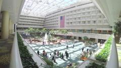 4K of Orlando International Airport atrium - real time Stock Footage