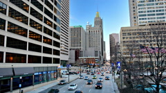 Traffic on Light Street in downtown Baltimore, Maryland. Stock Footage