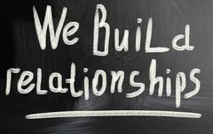 We build relationships Stock Photos
