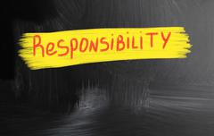 responsibility - stock photo