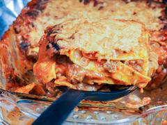 Stock Photo of Fresh lasagna