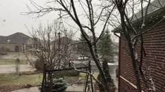 Snow Falling at 240 FPS Stock Footage