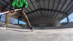 Super slow motion amazing hockey stick handling tricks Stock Footage