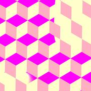 Cubes in pink Background for Desktop PC, Tablet, iPad, etc. Stock Illustration