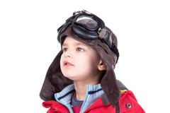 Young boy aviator Stock Photos