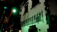 night shot vine st hollywood los angeles street lights outdoors - stock footage