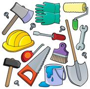 Various tools theme collection  - stock illustration
