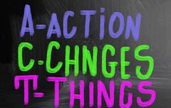 Action changes things Stock Photos