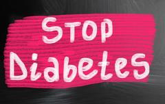 Stop diabetes Stock Photos