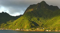 American Samoa forested mountain on Tutuila Island 4k Stock Footage