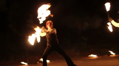 full shot of fireshow - stock footage