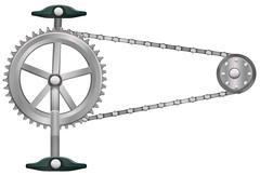 A cogwheel - stock illustration