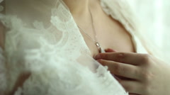 Bride dress chainlet with a coulomb Stock Footage