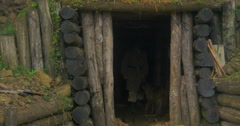 German soldier bunker 12 Stock Footage