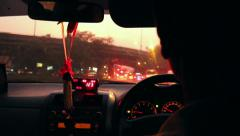 Taxicab interior Stock Footage
