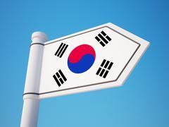 Stock Illustration of South Korea Flag Sign