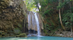 Jungle waterfall nature Stock Footage