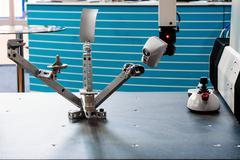 Modern industrial robot - stock photo