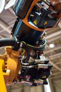 Industrial robot arm Stock Photos