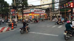 Saigon traffic, Timelapse view of crazy traffic in Hochiminh Go Vap district Stock Footage