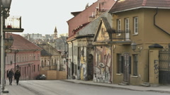 Lithuania, Vilnius, Uzupis 4. Includes Three Shooting - stock footage
