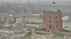 Vilnius. View from Mount of Three Crosses. 6 Stock Footage