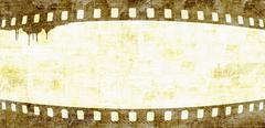 Grunge film strip frame background Stock Illustration