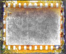 Grunge film strip frame background - stock illustration