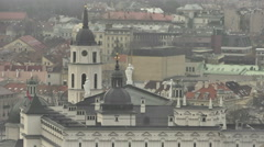 Vilnius. View from Mount of Three Crosses, 4 Stock Footage