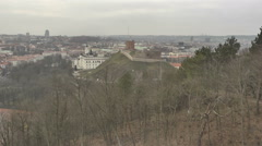 Vilnius. View from Mount of Three Crosses. 5 Stock Footage