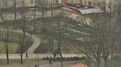 Vilnius. View from Mount of Three Crosses. 3 Stock Footage