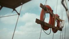 Live safer on boat Stock Footage