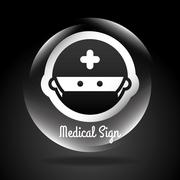 Medical design over black background ,vector illustration. Stock Illustration