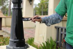 hand painting - stock photo