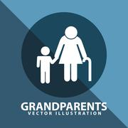 Stock Illustration of grandparents silhouettes design, vector illustration eps10 graphic
