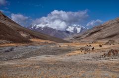 Valley in Tajikistan - stock photo