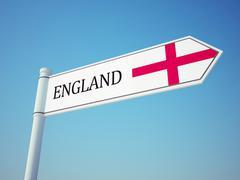 England Flag Sign - stock illustration