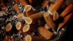 Stock Video Footage of full ashtray
