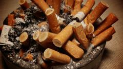Cigarette ash Stock Footage