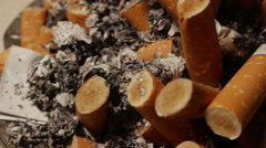 Ashtray close up - stock footage