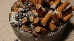 ashtray on the table - stock footage