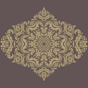 Damask  Pattern. Orient Background Stock Illustration