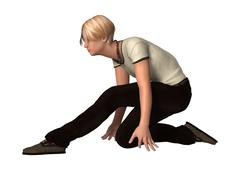 Stock Illustration of Dancing Teenager Boy