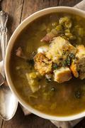 Homemade Split Pea Soup - stock photo
