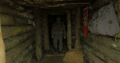 German soldier bunker 22 Stock Footage